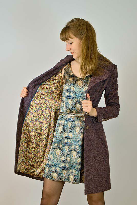 Sommer Kleid mit Herbstmantel aus Kiel