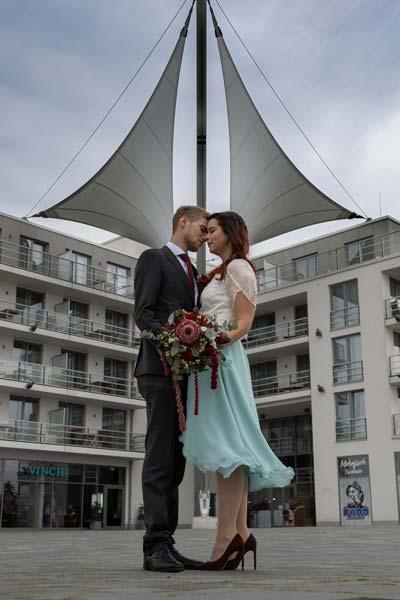 Maritimes Hochzeitskleid No2
