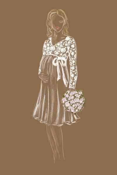 Schwangersschaftsbrautkleid