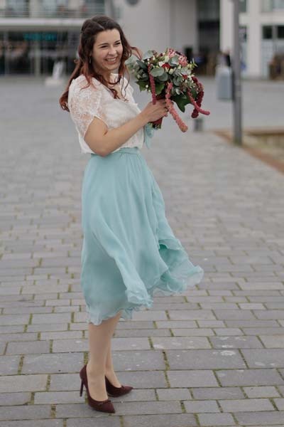 Maritimes Hochzeitskleid