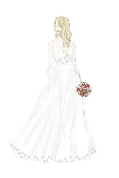 Brautkleidzeichnung Kiel
