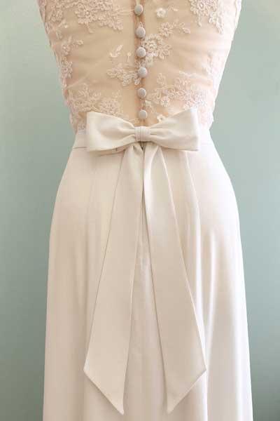 Hochzeitskleid Rücken mit Schleife