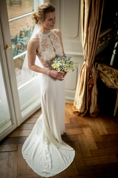 Brautzweiteiler in weiß