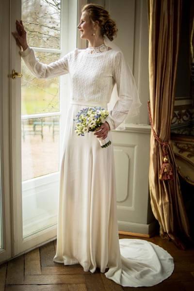 Brautkleid mit Brautpullover