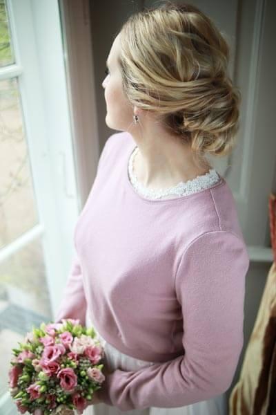 Brautpullover in Rosa