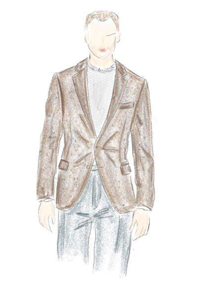 Tweedsakko in Braun