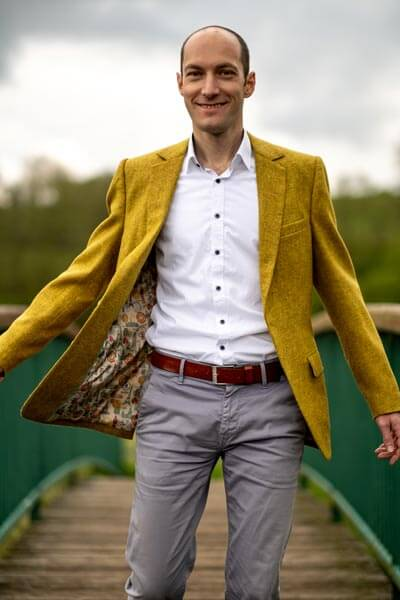 Gelbes Tweed Sakko